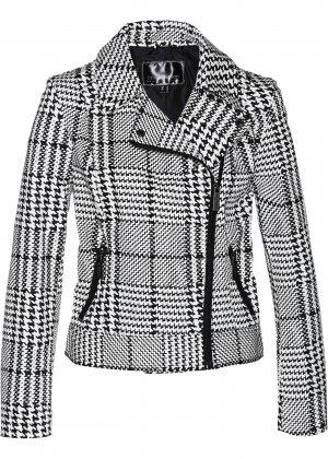 Куртка-косуха bonprix. Цвет: белый