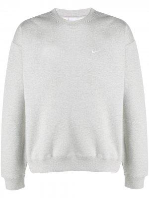 Crew-neck swoosh sweatshirt Nike. Цвет: серый