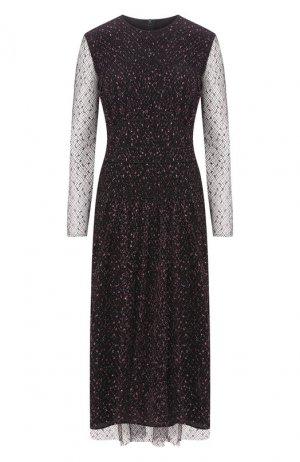Платье-миди с люрексом Escada. Цвет: чёрный