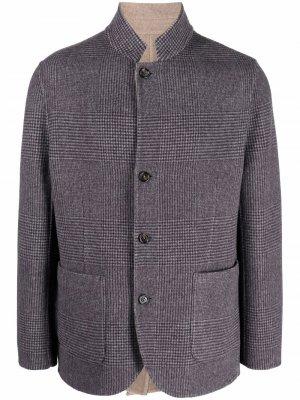 Двусторонний однобортный пиджак Brunello Cucinelli. Цвет: синий