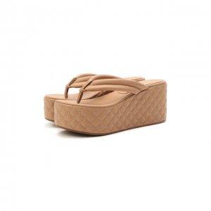 Кожаные сандалии Le Silla. Цвет: бежевый