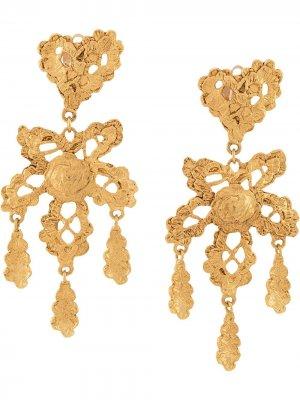 Серьги в форме сердца Christian Lacroix Pre-Owned. Цвет: золотистый