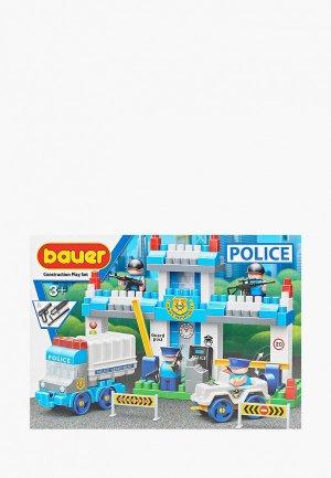 Конструктор Bauer Полиция, набор Полицейский участок. Цвет: разноцветный