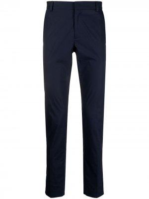 Строгие брюки кроя слим Daniele Alessandrini. Цвет: синий