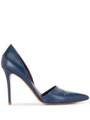 Туфли-лодочки на шпильке Céline Pre-Owned. Цвет: синий