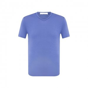 Хлопковая футболка Cruciani. Цвет: синий
