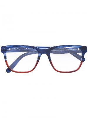 Square-frame optical glasses Salvatore Ferragamo Eyewear. Цвет: синий