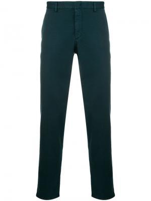 Прямые брюки чинос Prada. Цвет: синий