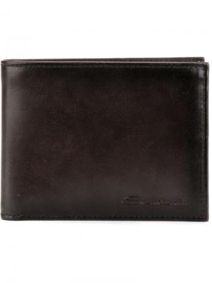 Бумажник Santoni. Цвет: чёрный