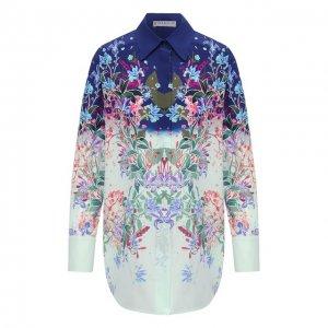 Шелковая рубашка Givenchy. Цвет: разноцветный