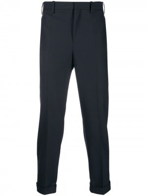 Классические брюки с контрастным полосками Neil Barrett. Цвет: синий