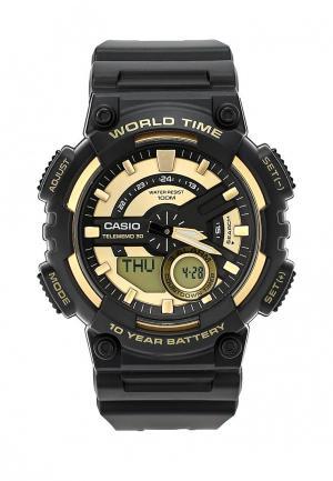 Часы Casio Collection AEQ-110BW-9A. Цвет: черный