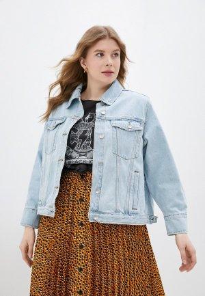 Куртка джинсовая Averi. Цвет: голубой