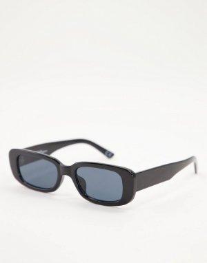 Черные солнцезащитные очки в прямоугольной оправе стиле унисекс -Черный цвет Jeepers Peepers
