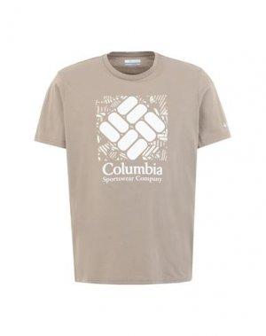 Футболка COLUMBIA. Цвет: голубиный серый