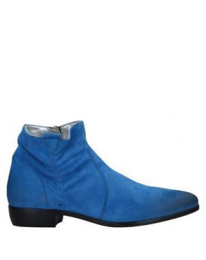 Полусапоги и высокие ботинки ALEXANDER HOTTO. Цвет: синий