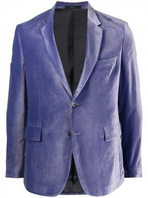 Бархатный пиджак на пуговицах Paul Smith. Цвет: фиолетовый