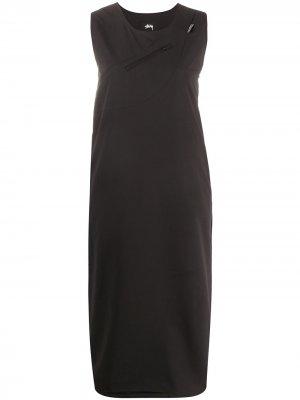 Sleeveless shift dress Stussy. Цвет: черный