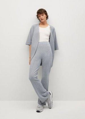 Трикотажные брюки-клеш - Bomin Mango. Цвет: серый