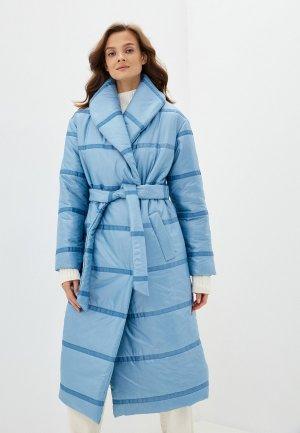 Куртка утепленная Vivaldi. Цвет: голубой