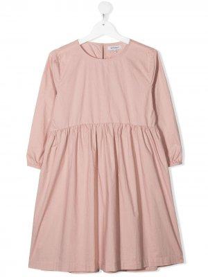 Расклешенное платье с длинными рукавами Woolrich Kids. Цвет: розовый