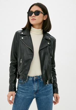 Куртка кожаная Silvian Heach. Цвет: черный