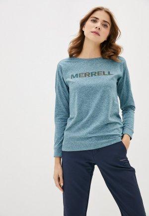 Лонгслив Merrell. Цвет: синий