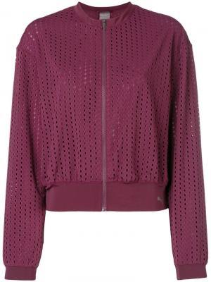 Куртка-бомбер с прорезями Puma. Цвет: фиолетовый