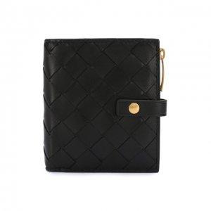 Кожаное портмоне Bottega Veneta. Цвет: чёрный