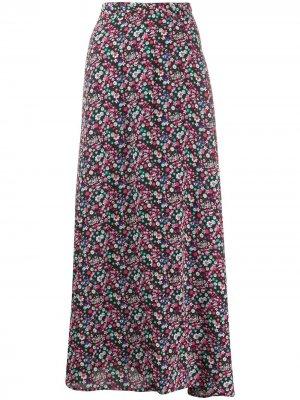 Юбка макси с цветочным принтом Essentiel Antwerp. Цвет: черный