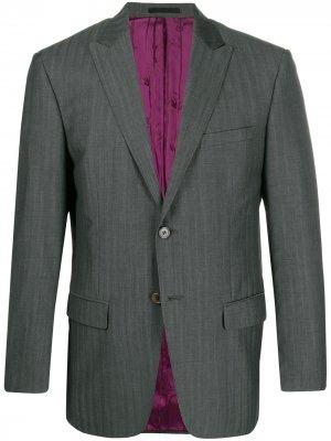 Однобортный пиджак 1990-х годов Kenzo Pre-Owned. Цвет: серый