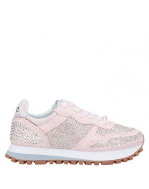 Низкие кеды и кроссовки LIU •JO. Цвет: розовый