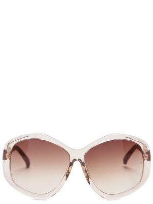 Солнцезащитные очки LINDA FARROW. Цвет: бежевый