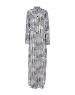Длинное платье EQUIPMENT. Цвет: темно-синий