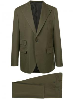 Пиджак с заостренными лацканами United Arrows. Цвет: зелёный