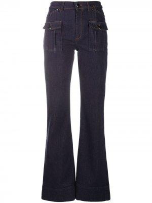 Расклешенные джинсы с завышенной талией Dorothee Schumacher. Цвет: синий