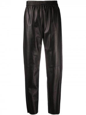 Зауженные брюки с завышенной талией Drome. Цвет: черный