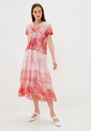 Платье EMI. Цвет: красный