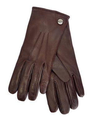 Перчатки ручной работы из кожи ягненка и кашемира MORESCHI. Цвет: коричневый