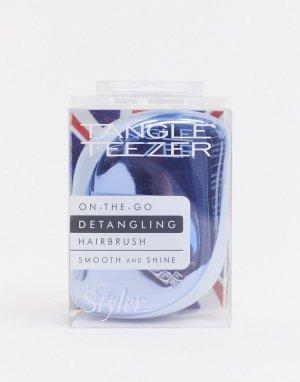 Компактная голубая щетка для распутывания волос -Синий Tangle Teezer