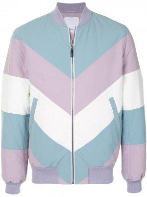 Куртка-бомбер на молнии в стиле колор-блок Ports V. Цвет: разноцветный