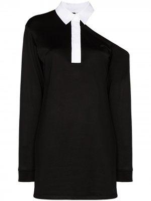 Платье мини Calandra с открытыми плечами RtA. Цвет: черный