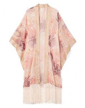 Легкое пальто ANNA SUI. Цвет: розовый