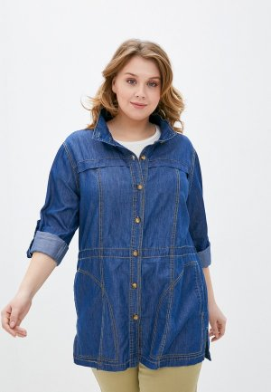 Куртка джинсовая Averi. Цвет: синий