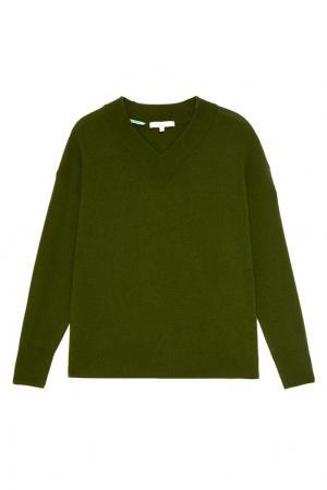Вязаный зеленый пуловер Akhmadullina DREAMS. Цвет: зеленый