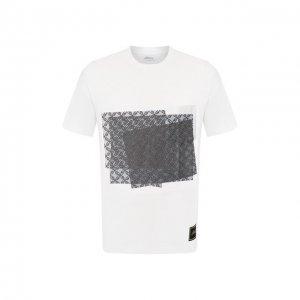 Хлопковая футболка Brioni. Цвет: белый