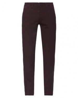 Повседневные брюки HAMAKI-HO. Цвет: красно-коричневый