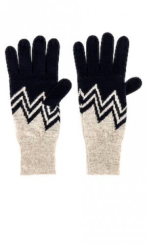 Перчатки Autumn Cashmere. Цвет: navy,taupe