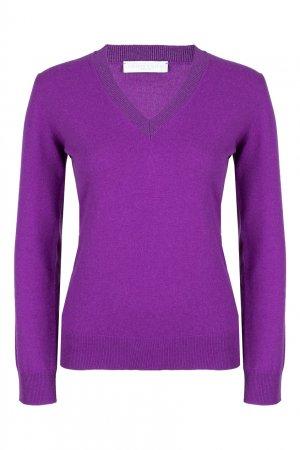 Фиолетовый шерстяной пуловер Fabiana Filippi. Цвет: фиолетовый