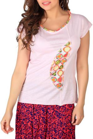 Блуза-футболка Artwizard. Цвет: розовый